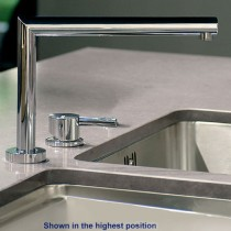 Logic Two Hole Kitchen Mixer Tap With 3 Height Position Swivel Spout