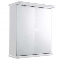 Home of Ultra Niche Double Door Mirror Cabinet with Light, Shaving Socket and Digital Clock