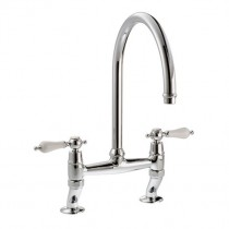 Ludlow Bridge Kitchen Mixer Tap Chrome