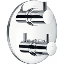 Levo Round Recessed Shower Valve with Diverter