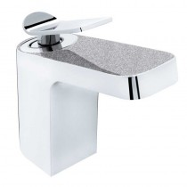 Metallix Alp Basin Mixer with Waste Silver Sparkle