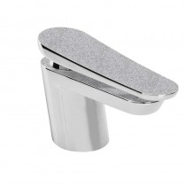 Metallix Claret One Hole Bath Filler Silver Sparkle