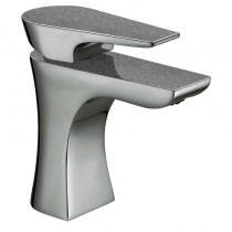 Metallix Hourglass Basin Mixer Graphite Glisten