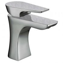 Metallix Hourglass Basin Mixer Silver Sparkle