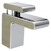 Metallix Pivot Basin Mixer with Waste Champagne Shimmer