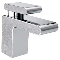 Metallix Pivot Basin Mixer Silver Sparkle