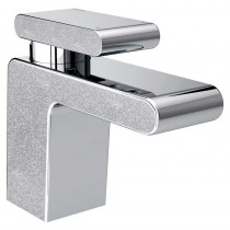 Metallix Pivot One Hole Bath Filler Silver Sparkle