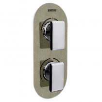 Metallix Pivot Two Outlet Diverter Champagne Shimmer