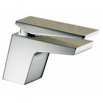 Metallix Sail Basin Mixer with Waste Champagne Shimmer