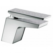Metallix Sail Basin Mixer with Waste Silver Sparkle