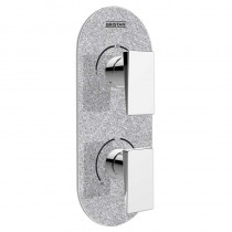 Metallix Sail Two Outlet Diverter Silver Sparkle