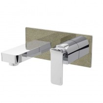 Metallix Alp Wall Mounted Bath Filler Champagne Shimmer