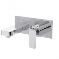 Metallix Alp Wall Mounted Bath Filler Silver Sparkle
