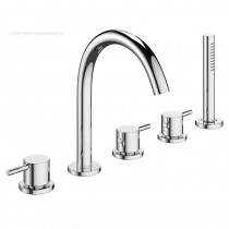 Mike Pro 5 Hole Bath Set Chrome