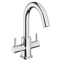 Mike Pro Twin Lever Basin Mixer Chrome