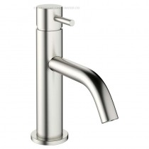 Crosswater Mike Pro Basin Mixer Brushed Stainless Steel Effect