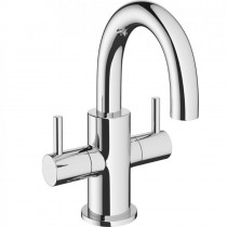 Crosswater Mike Pro Two Handled Mini Basin Mixer Chrome