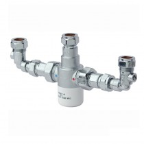 15mm Thermostatic Mixing Valve with Isolation Elbows