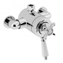 1901 Thermostatic Exposed Dual Control Shower Valve Top Outlet Chrome
