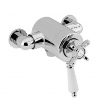 1901 Thermostatic Exposed Dual Control Shower Valve Bottom Outlet Chrome