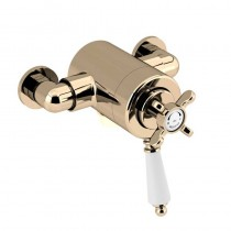 1901 Thermostatic Exposed Dual Control Shower Valve Bottom Outlet Gold