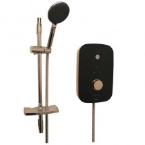 Noctis 10.5kW Electric Shower Black and Rose Gold