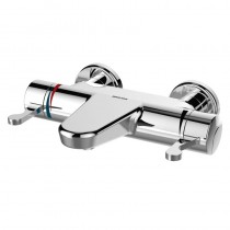 OPAC Thermostatic Wall Mount Bath Filler with Chrome Lever