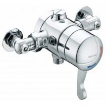OPAC Thermostatic Exposed Shower Valve with Chrome Lever and Isolation Elbows