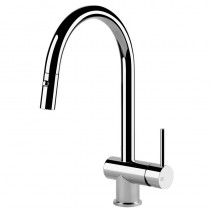 Oxygen Side Lever Sink Mixer with Pull Out Spray Chrome