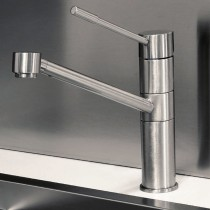 Oxygen Top Lever Monobloc Mixer Brushed Nickel
