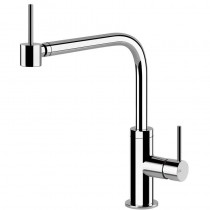 Oxygen Side Lever Monobloc Mixer With Swivel L-Spout & Rotating Head