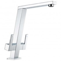 Pendenza Angle Spout Sink Mixer Chrome