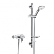 Prism Exposed Sequential Chrome Shower Valve with Adjustable Riser Kit