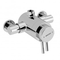 Prism Exposed Concentric Chrome Top Outlet Shower Valve