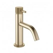 MPRO Basin Mixer Knurled Brushed Brass