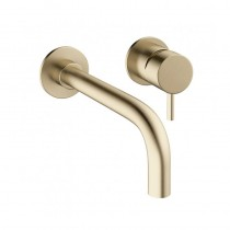 MPRO Wall Basin Mixer Brushed Brass