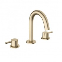 Crosswater Mike Pro 3 Hole Basin Mixer Brushed Brass