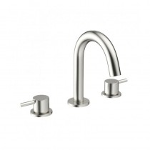 Crosswater Mike Pro 3 Hole Basin Mixer Brushed SS Effect