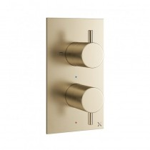 MPRO Thermo Shower Valve 2 Way Brushed Brass