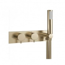 MPRO Thermo Shower Valve with Handset Brushed Brass