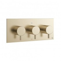Mike Pro 3 Control Shower Valve 2 Way Brushed Brass Landscape