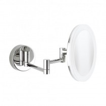 Crosswater MPRO Round Illuminated Cosmetic Mirror Extendable