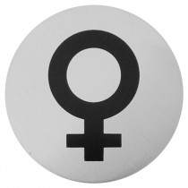 Urban Steel Female Symbol Bathroom Sign