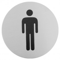 Urban Steel Male Bathroom Sign