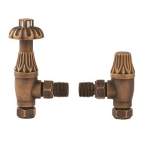 Angled Radiator Valves Thermostatic Brass