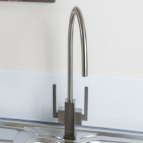 Sagan Twin Lever Monobloc With Swivel Spout Brushed Nickel