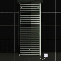 TS 600 x 770 Electric Heated Towel Rail Curved Chrome