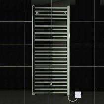 TS 500 x 1150 Electric Heated Towel Rail Curved Chrome