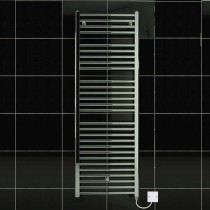 TS 500 x 1430 Electric Heated Towel Rail Flat Chrome