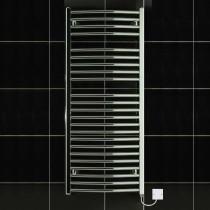 TS 600 x 1150 Electric Heated Towel Rail Curved Chrome
